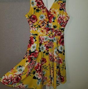 Yellow flower dress. Very
